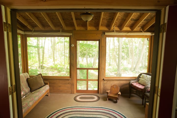 Relax on the porch or unfold the futon and sleep in the open air