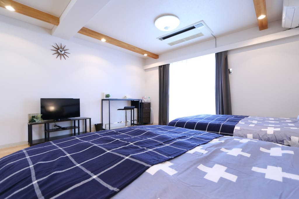 Big room with comfortable beds, have a good dream here! 大房间,舒适的大床,好梦!