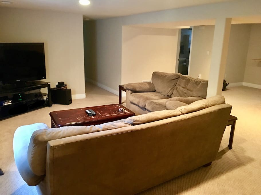 Your private basement family room