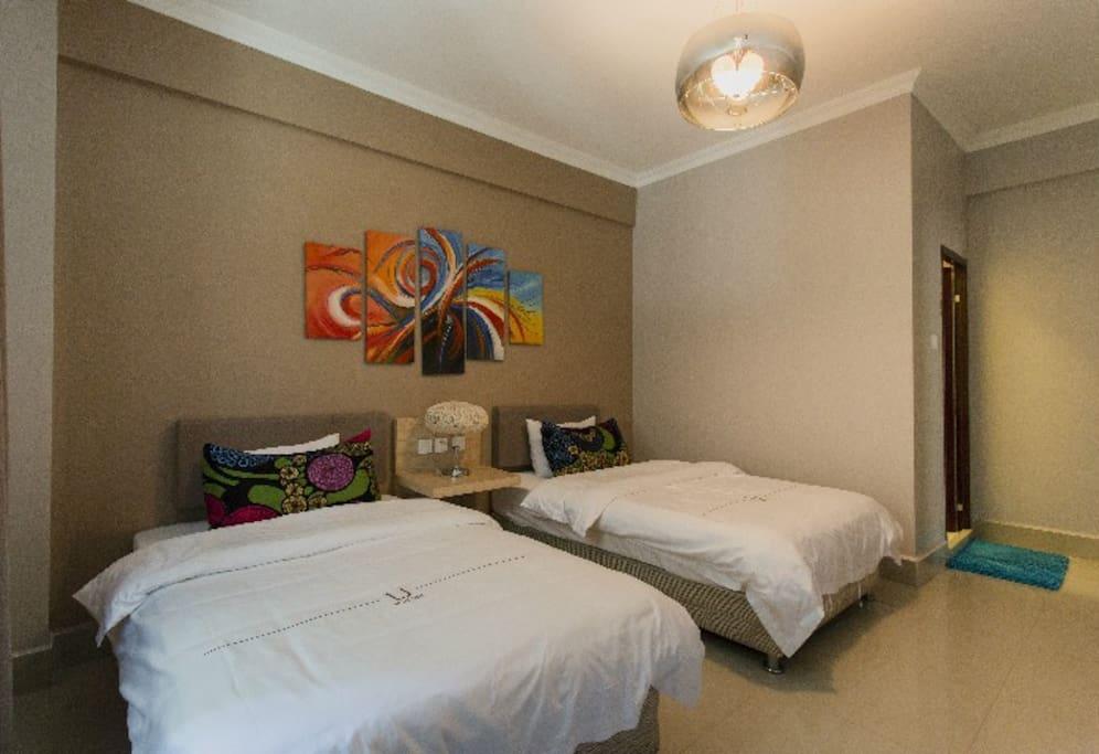 房间配2张1.2米的床