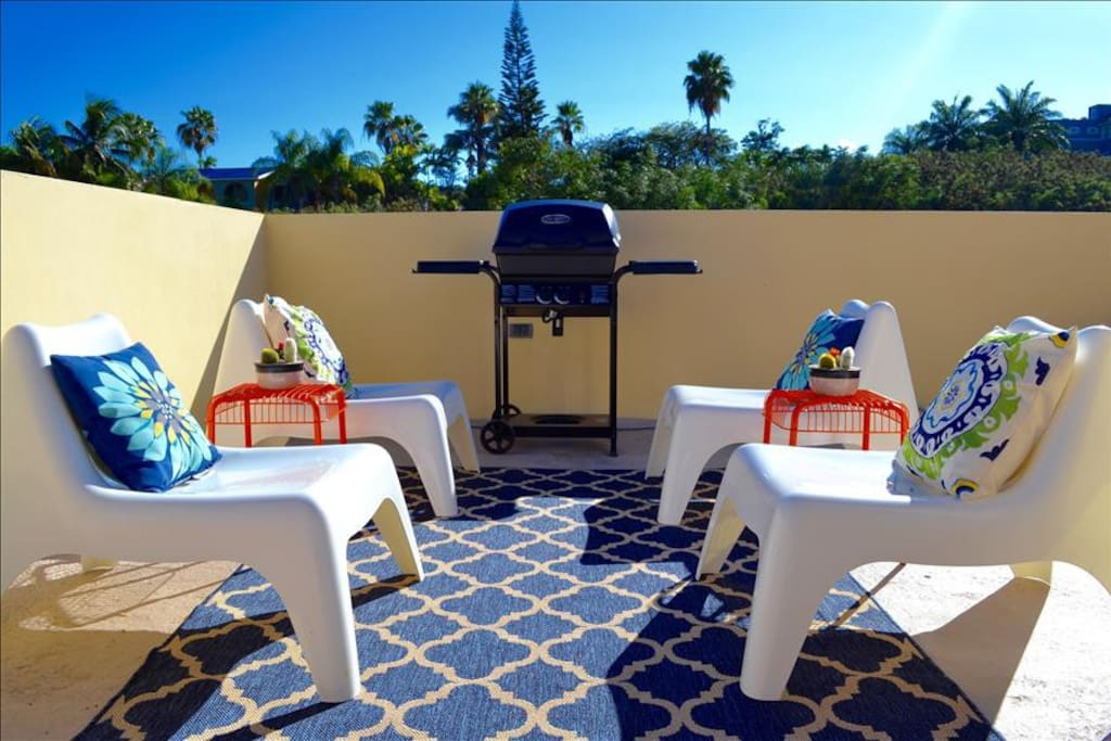 Rooftop Terrace with Gas Grill