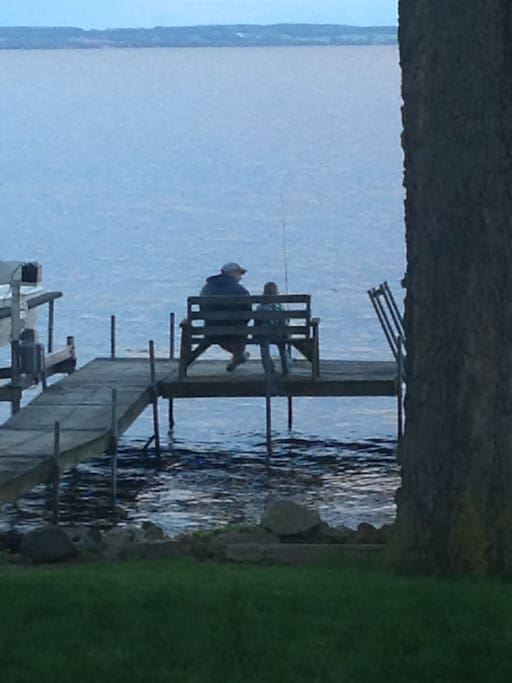 Fishing from the dock is one of our favorite things.