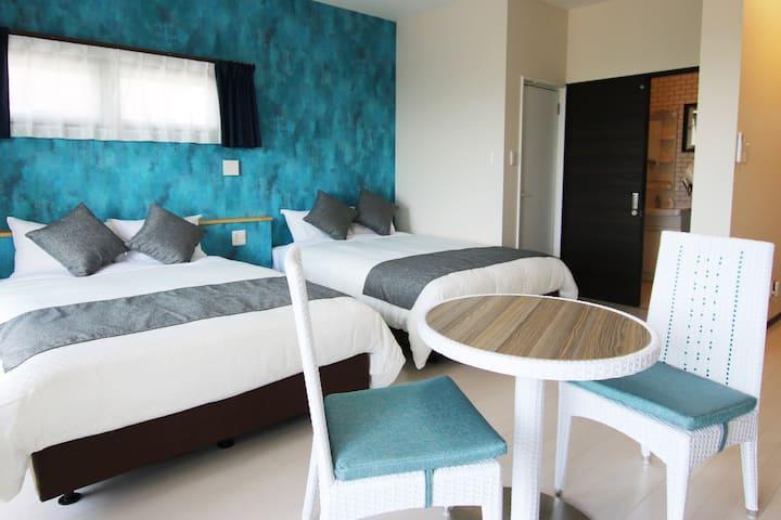 FIT HOTEL/3F/ワーケーション歓迎/ワンルーム2ベッド/洗濯乾燥機付き/定員4名/駐車場