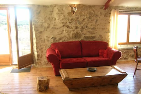 'Le Barn', beautifully restored with amazing views - Rabouillet - Talo