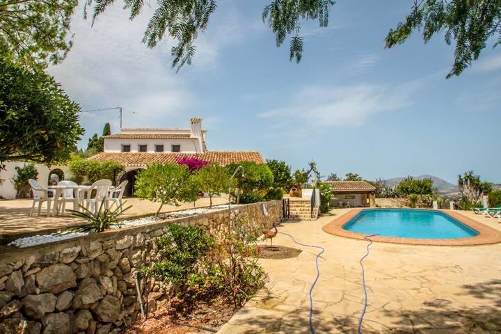 Finca Baile del Sol - sea view villa with private pool in Teulada