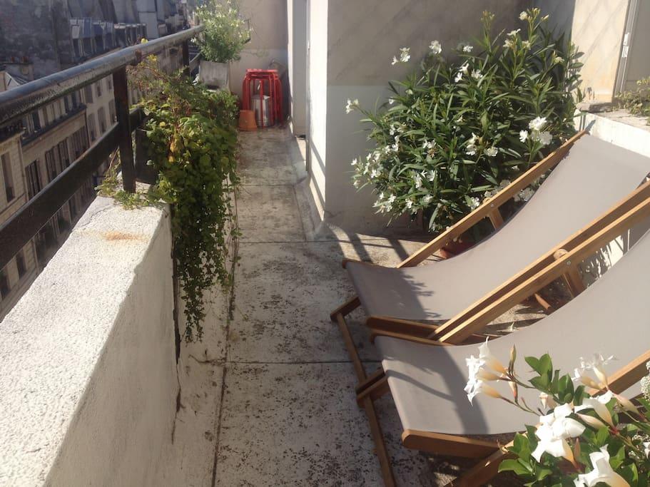 Terrace, lounging area