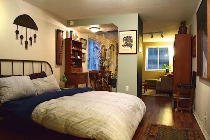 Cozy, eclectic SE Portland upside down penthouse
