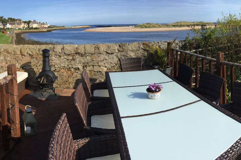 Enjoy the views from the decking area.