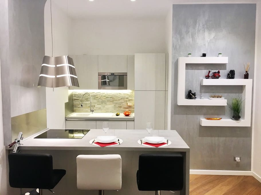Nuova cucina moderna completamente attrezzata - New fully equipped modern kitchen