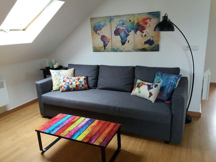 Appartement meublé, 1 chambre, Evian