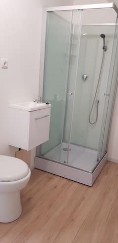 Salle d'eau avec wc attenant et privatif à la chambre