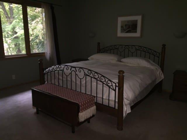 1st floor Master bedroom suite with King bed