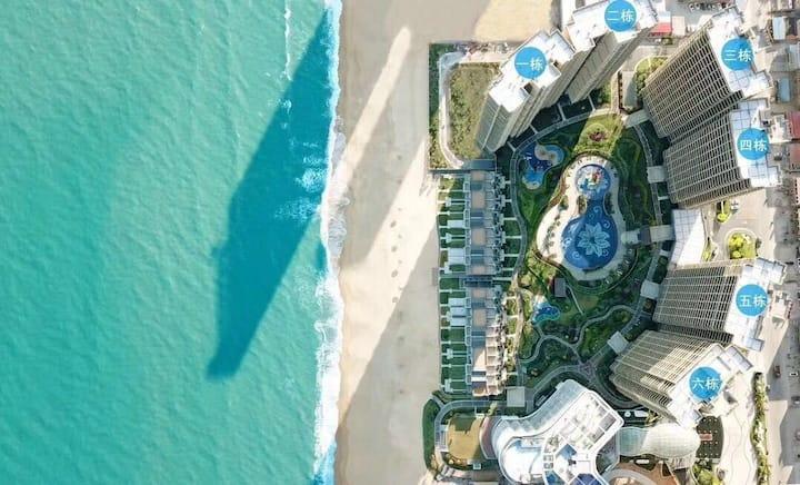 惠东双月湾蓝色地中海一线高层正海景房