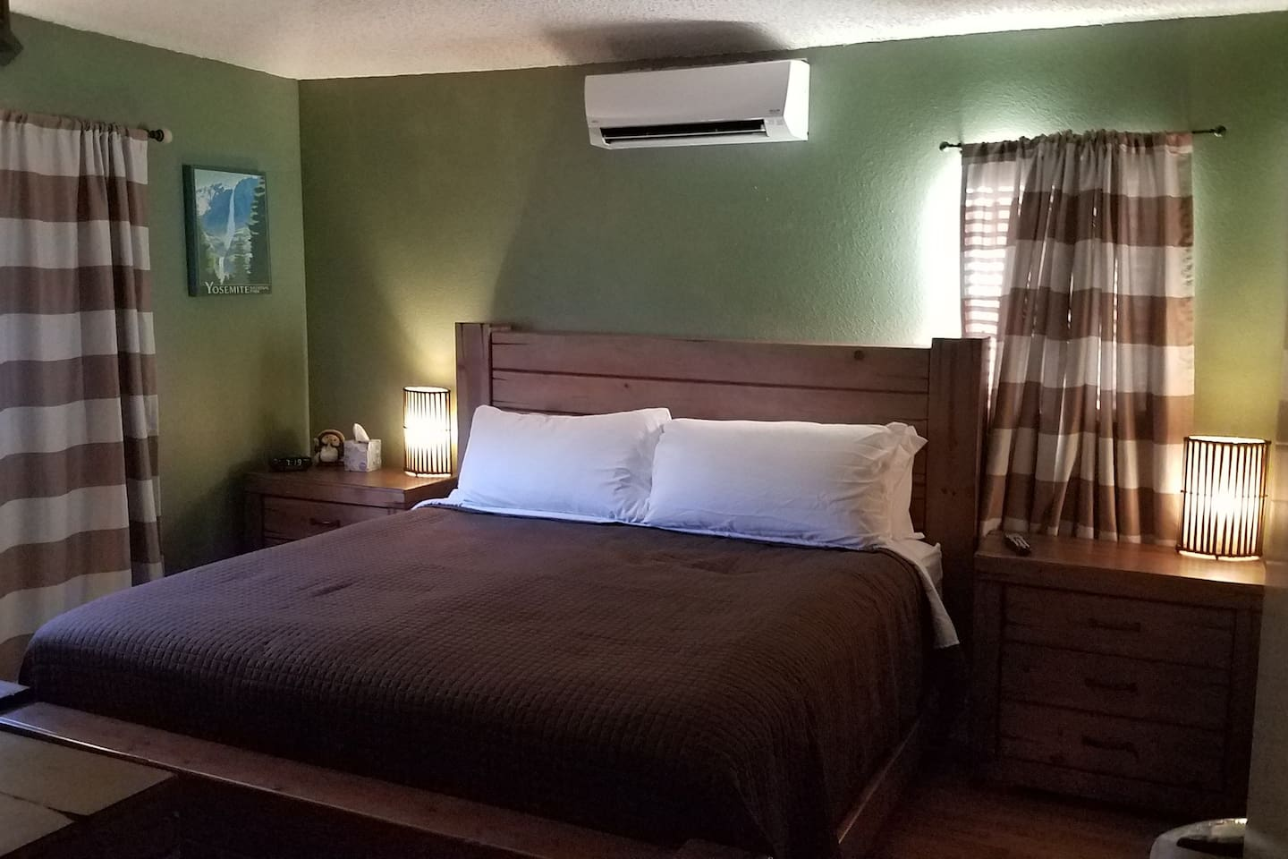Adventure room has an attached bathroom (king bed)