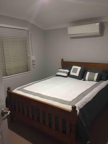 The lovely comfortable queen bedroom