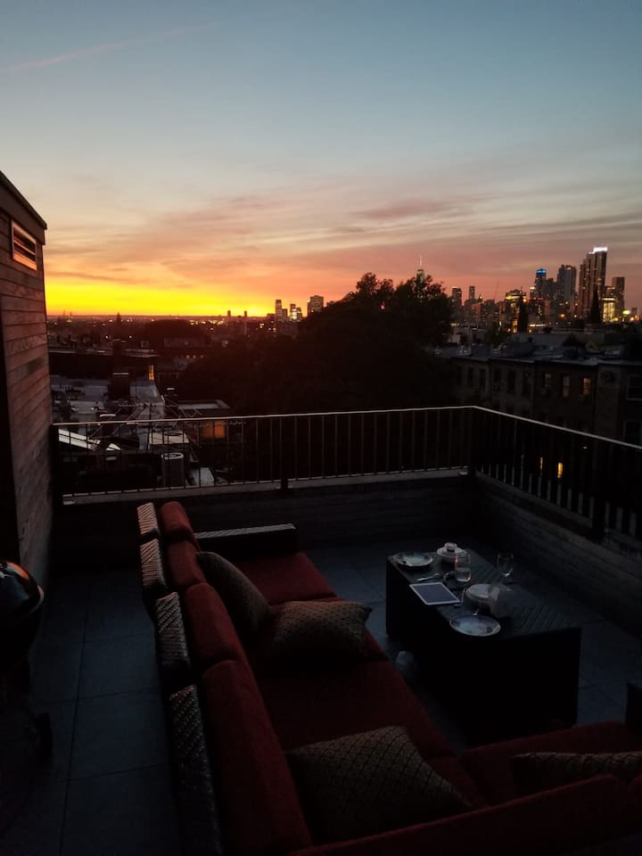 Your roof deck by night