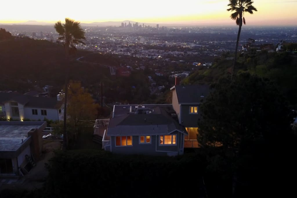 Nestled in the Hollywood Hills with unobstructed views