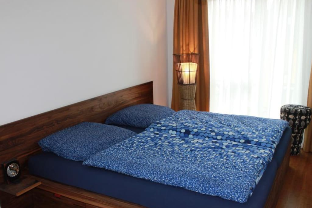 2mx2m bed upstairs