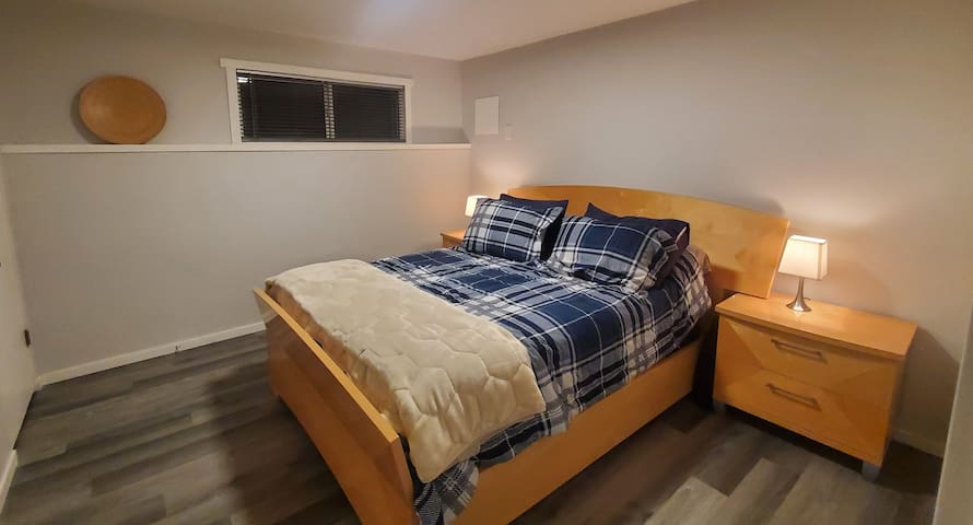 Private two bedroom fully contained suite in town.