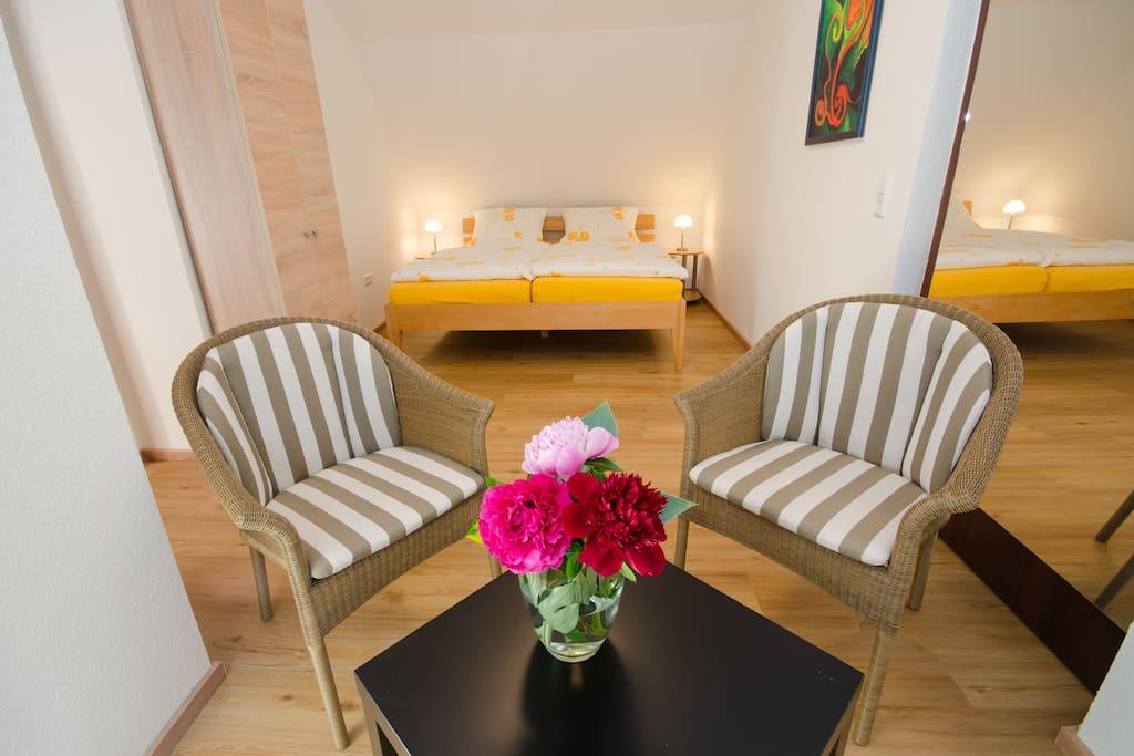 Zimmer B - Doppelbett