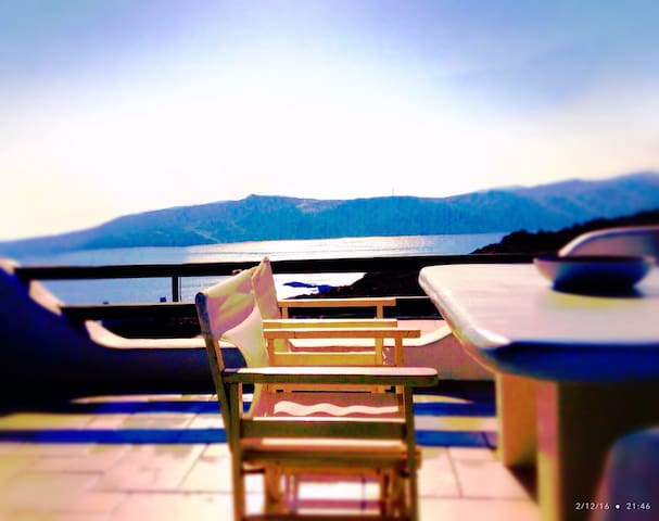 Amazing see view house-Agios Sostis