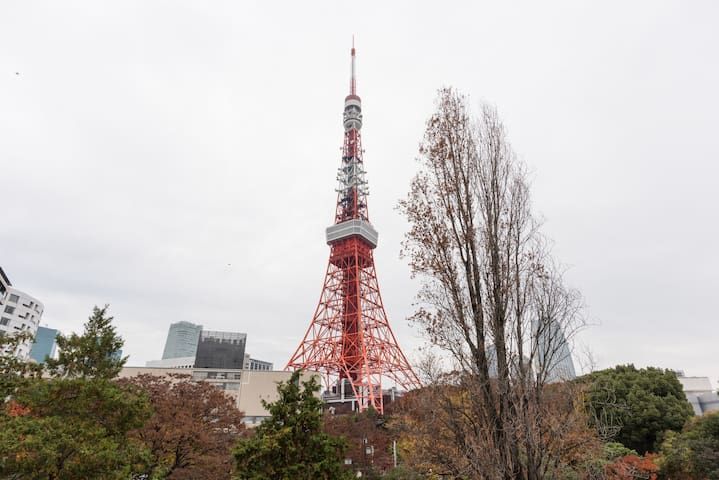 Adjacent to TokyoTower/convenient/free WiFi