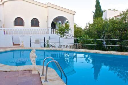 Beautiful villa with 70sqm pool and shady terrace - Peñíscola - Haus