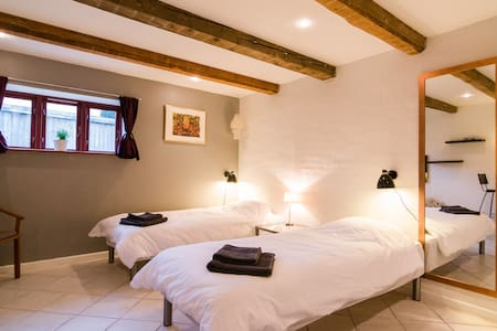 Spacious room with own bathroom and entrance.
