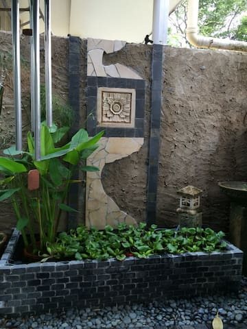 Water Feature & Goldfish Pond.