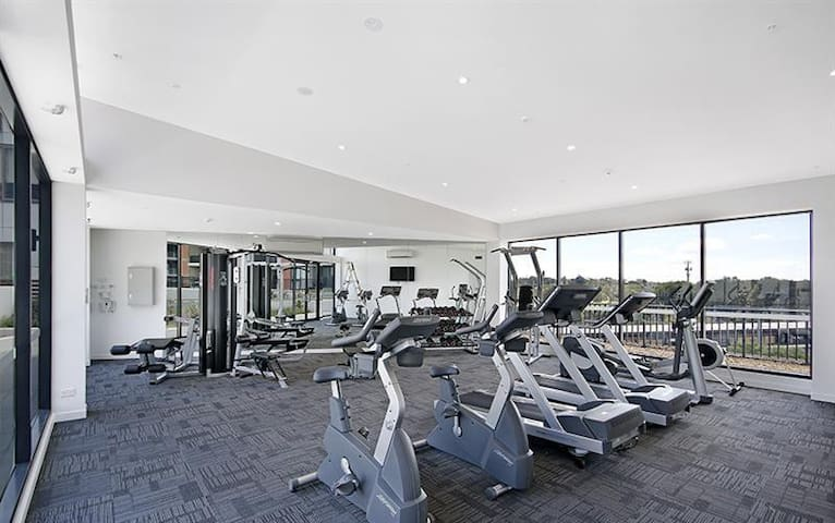 Facilities - Indoor gym with air conditioning.