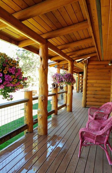 Deck on Cottage