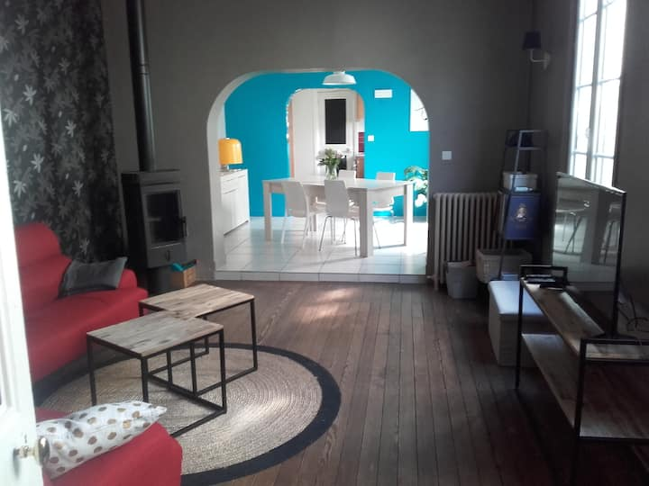 Maison familiale de faubourg, jardin, calme