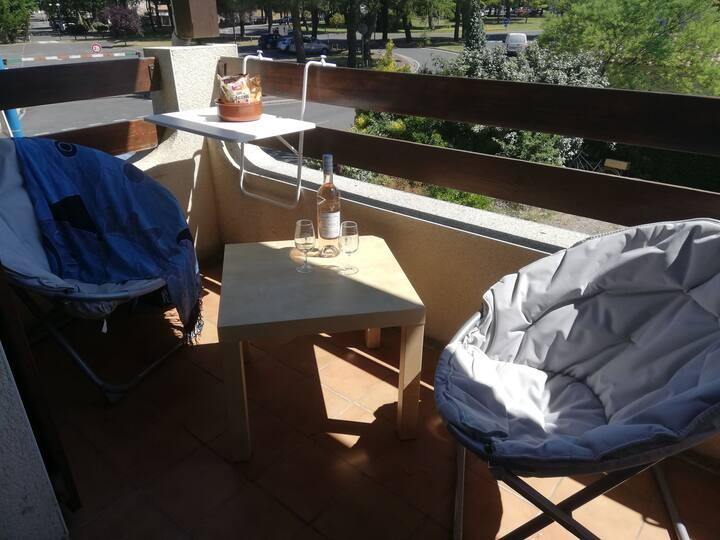 Appartement La Palmyre 4 pers avec Balcon et wifi