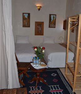 Dar Essoaoude-Chambre Lits Jumeaux - Fes el Bali