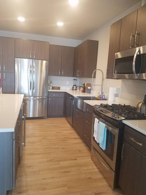 Stainless steel appliances/ gas stove!