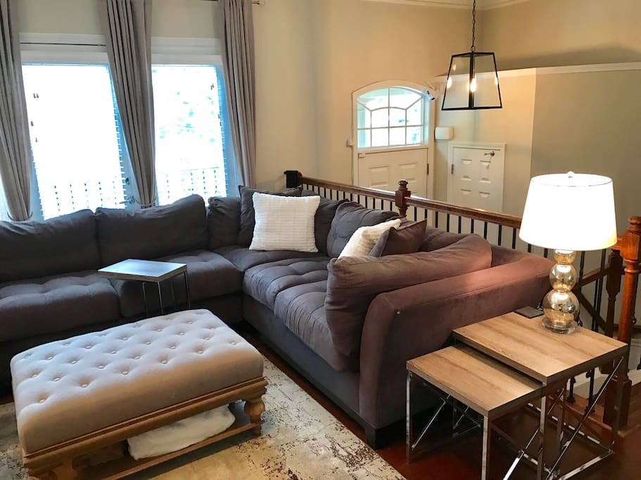 Large and comfy sectional, plenty of seating space