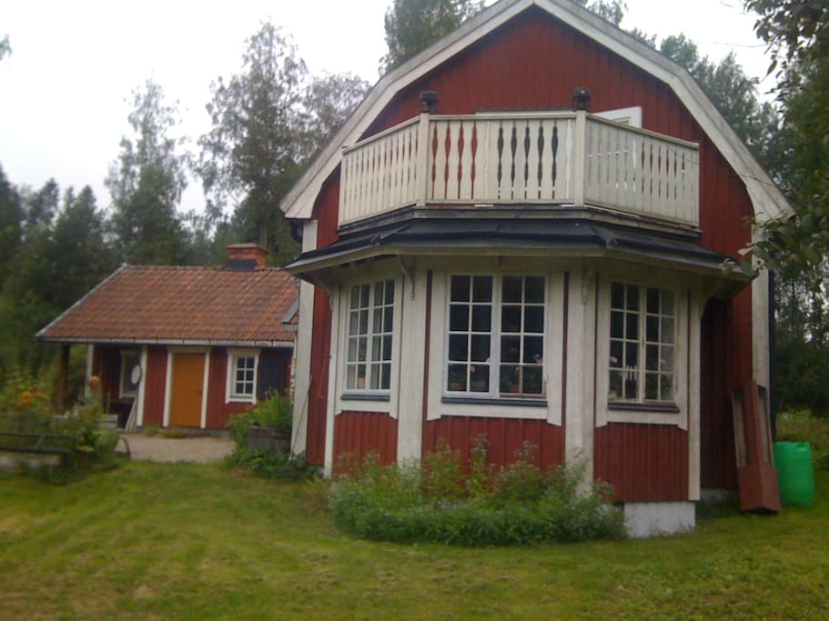The main house and Grandma's cottage.