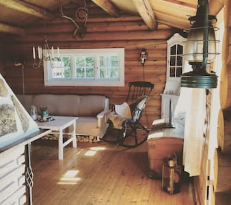 Charming & unique timber cottage 45 min from Oslo - Hytte