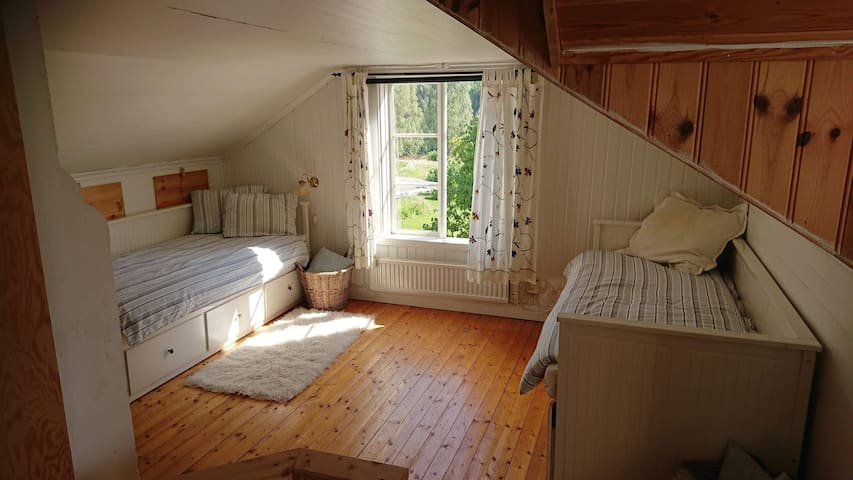 Both beds can be made into double beds