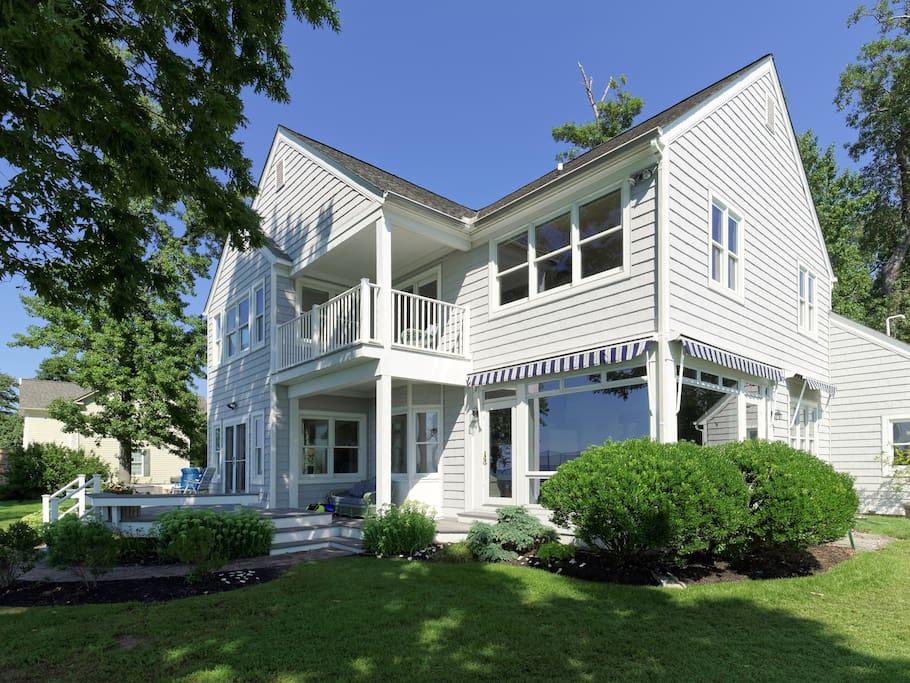 New England-style Bayfront house
