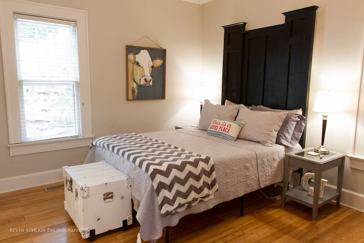 The second bedroom has a queen sized bed and two nightstands for your convenience.