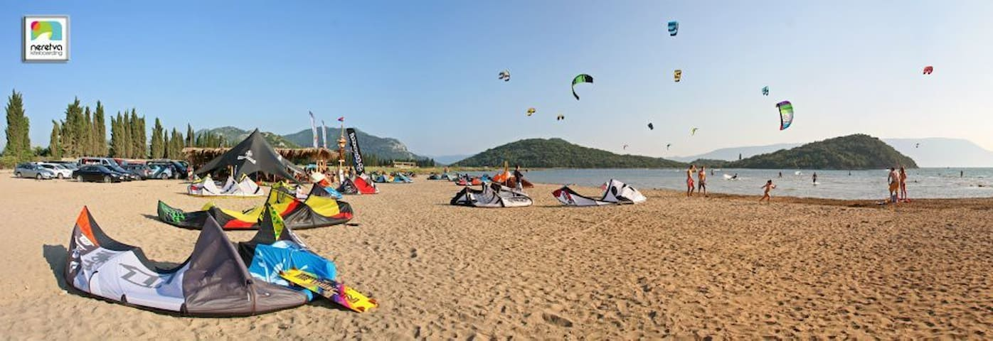 Kiteboarding on delta Neretva.. Only 10 minutes from the apartment..