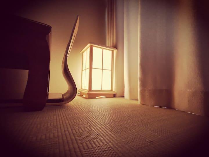 公寓七楼之《和壹》烟台大学旁【日式榻榻米双床房】独立卫浴配智能马桶盖