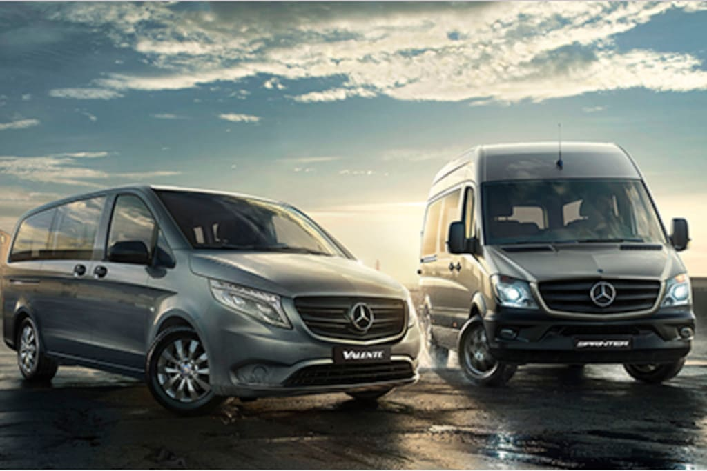 We can provide 8,12-seats Mercedes-Benz Vans, please enquiry after you have booked the accommodation.