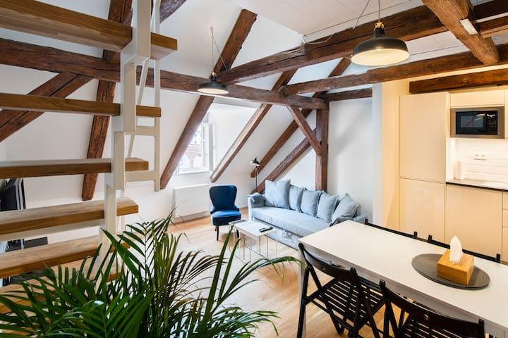 NEW loft with AC and Netflix at Florenc station!:)
