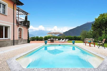 Large lakefront villa with pool! - Calozzo
