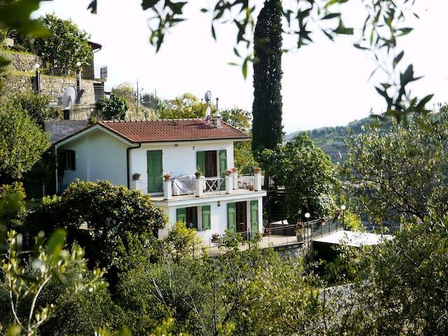 2 bed villa in own olive groves, Italian Riviera