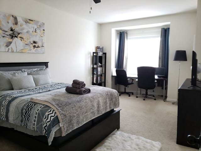 RTP/RDU- Spacious Master Bedroom and Private Bath