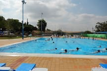 An outdoor swimming pool at Kibbutz Kabri  - For an additional fee