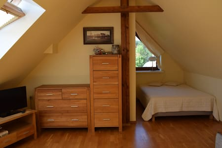 One room attic apartment for rent in Nida